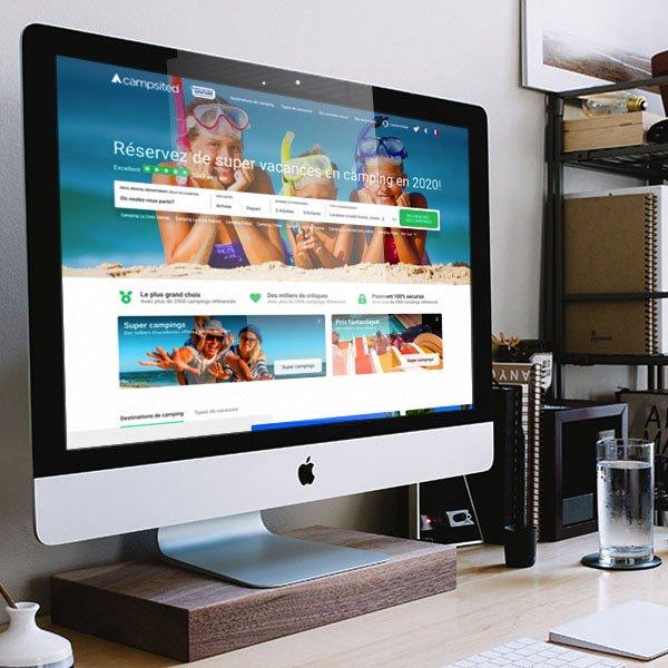 campsited web design and UX design